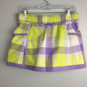 BEAUTIFUL LULULEMON PLAID SKORT SIZE 6
